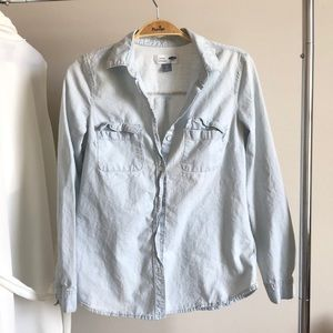 Light wash Jean Shirt